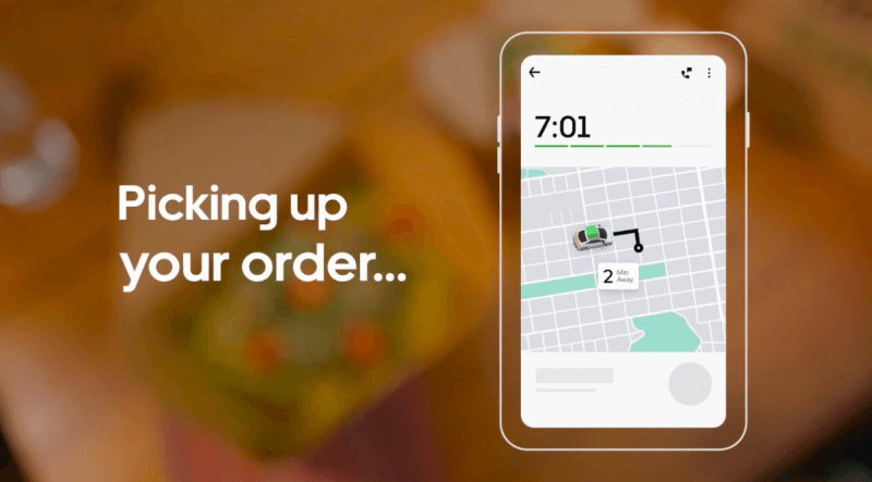 A picture of an Uber Eats App
