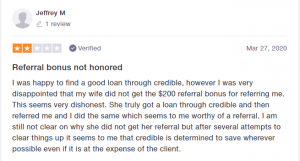 Credible Loan Reviews - Bad Review