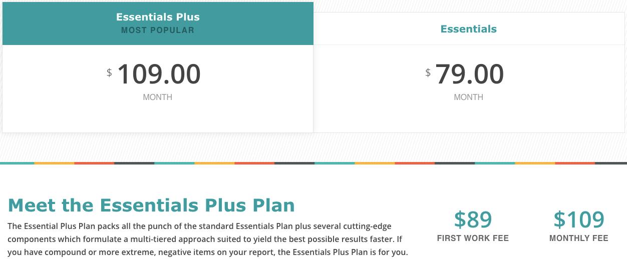 ovation credit repair website screenshot